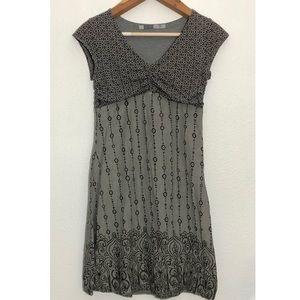 Athleta grey brown patterned dress m